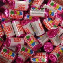 Mini Love Hearts Retro Sweets 100g